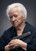 Older Woman with a Gun