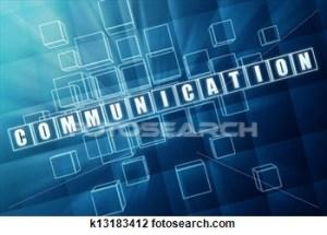 Communication - Blue-Glass