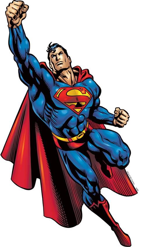 por que las vestimentas de heroes y villanos de no se ven tan ridiculas en el comic? Superman01