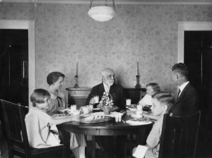 Family Eating in Dining Room