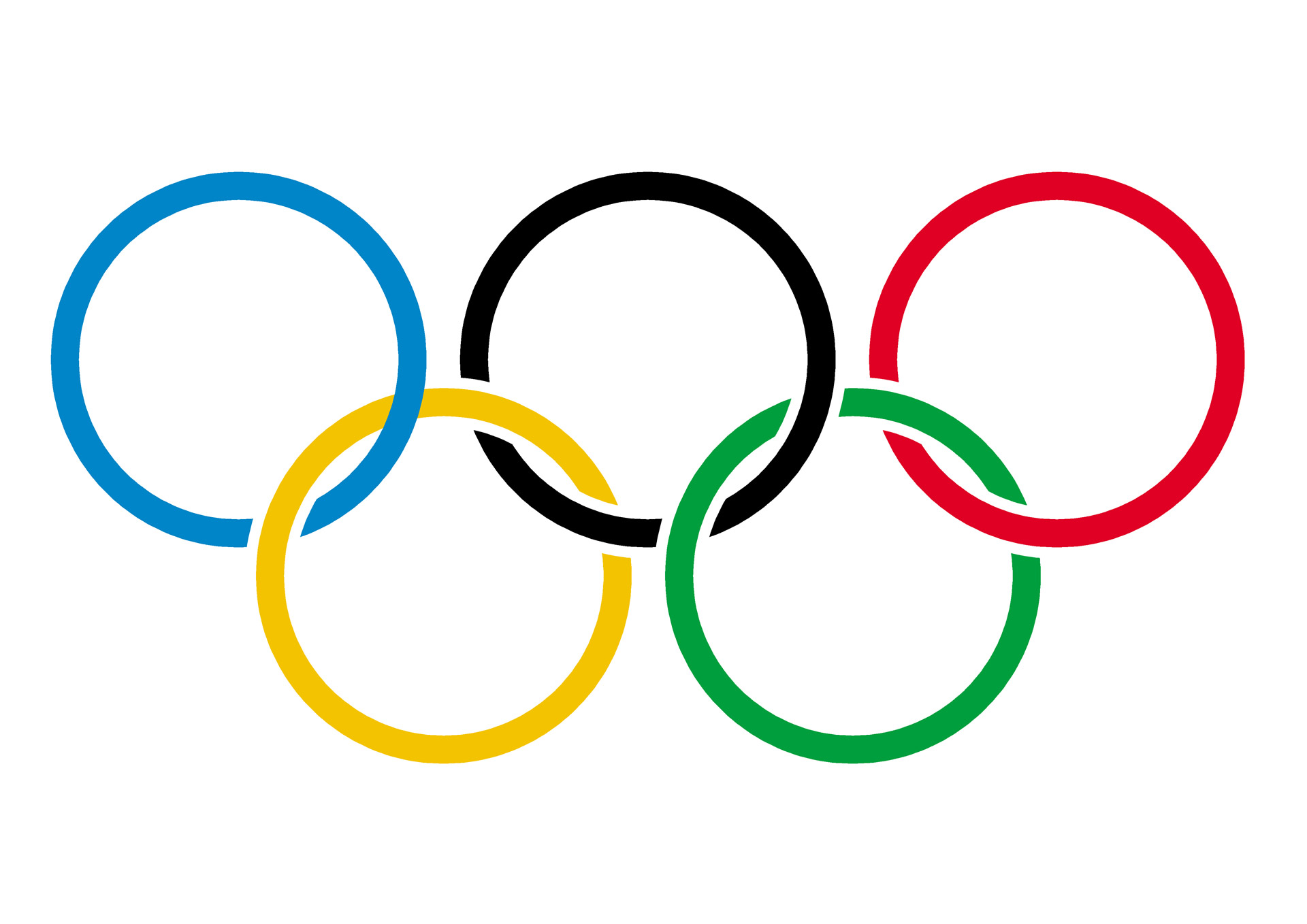 Olympic Symbols Colouring Pages