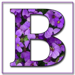 Capital Letter B Free Scrapbook Alphabet Purple Flowers